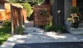 Modern Side Yard Entrance
