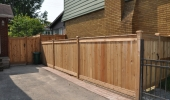 Cedar Fence on Shared Driveway
