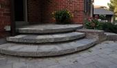 Curved Interlock Brick Entrance Porch