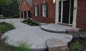 Elegant Entranceway with Natural Stone Accents