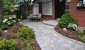 Stone Front Walkway