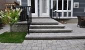 Interlocking Brick Back Patio and Steps