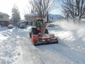 Clearing a driveway in Elmvale Acres
